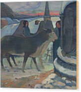 Christmas Night Blessing Of The Oxen Wood Print