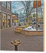 Christmas Old Town Wood Print by Baywest Imaging