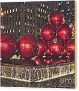 Christmas On 5th Avenue Manhattan 1 Wood Print