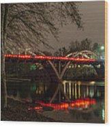 Christmas On Caveman Bridge Wood Print