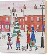 Christmas On Church St. Wood Print