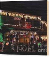 Christmas On East Lake Wood Print