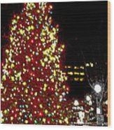Christmas On Public Square Three Wood Print