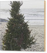 Christmas On The Beach 1 Wood Print