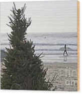 Christmas On The Beach 2 Wood Print