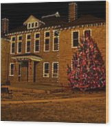 Christmas On The Square Wood Print