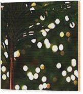 Christmas Palm Wood Print