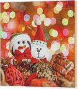 Christmas Penguin Wood Print
