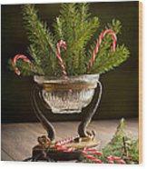 Christmas Pine Wood Print