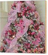 Christmas Pink Wood Print
