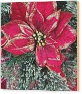 Christmas Poinsettia Wood Print