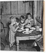 Christmas Poor, 1936 Wood Print