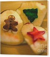 Christmas Potato Stamps Wood Print