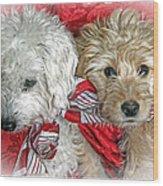 Christmas Puppy Wood Print