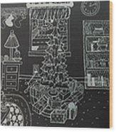 Christmas Scene Wood Print