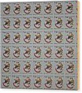 Christmas Seals 1981 Wood Print