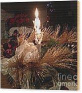 Christmas Shining Light Wood Print