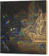 Christmas Ship Wood Print