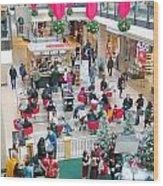 Christmas Shopping Wood Print