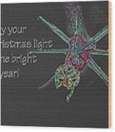 Christmas Star Light 26762 Ge Wood Print