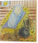 Christmas Story Illustration Wood Print