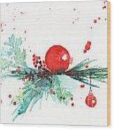 Christmas Theme 3 Wood Print