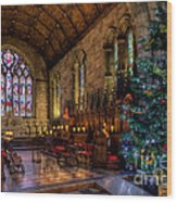 Christmas Time Wood Print by Adrian Evans