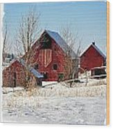 Christmas Time In Idaho Falls Wood Print