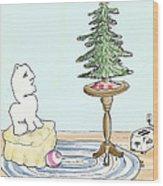Christmas Toaster Wood Print by Alan McCormick