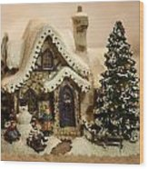 Christmas Toy Village Wood Print