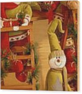 Christmas Toys Wood Print