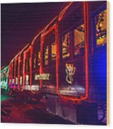Christmas Train Wood Print