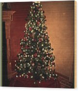 Red And Gold Christmas Tree Without Caption Wood Print