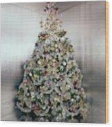 Christmas Tree Decorated By Gloria Vanderbilt Wood Print