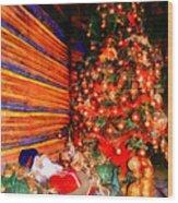 Christmas Tree Wood Print by George Rossidis
