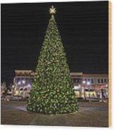 Christmas Tree Hampton City Center  Wood Print