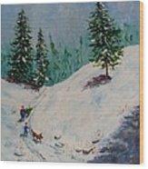 Christmas Tree Harvest Wood Print