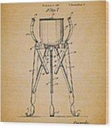 Christmas Tree Holder Patent 1927 Wood Print