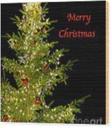 Christmas Tree Lighting Wood Print