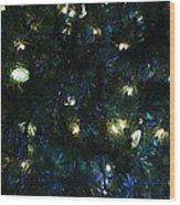 Christmas Tree Lights Wood Print