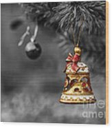 Christmas Tree Ornament Wood Print