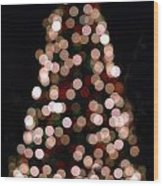 Christmas Tree Out Of Focus Wood Print