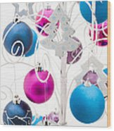 Christmas Tree Tree Wood Print by Anne Gilbert