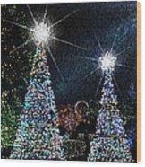 Christmas Trees Wood Print