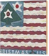 Christmas U.s.a. Wood Print