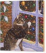 Christmas Visitor Wood Print