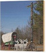 Christmas Wagon Wood Print