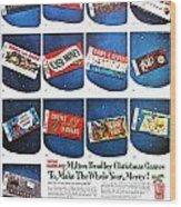 Christmas Wish List 1960 Wood Print