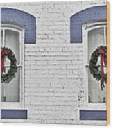 Christmas Wreaths  Wood Print
