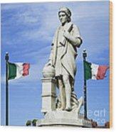 Christopher Columbus Baltimore  Statue Wood Print